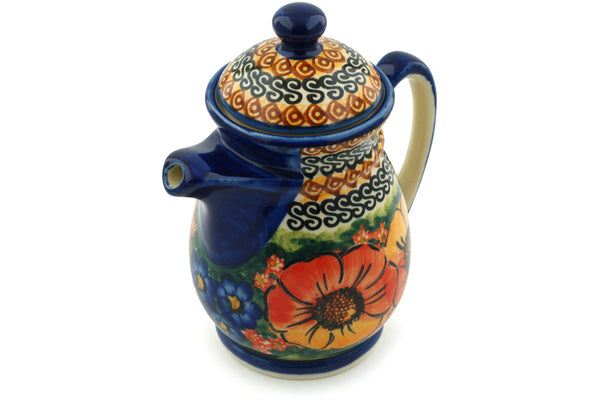15 oz Creamer with Lid - Autumn Wonder | Polish Pottery House