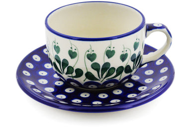 9 oz Cup with Saucer - 377PX | Polish Pottery House