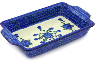 "8"" x 13"" Rectangular Baker with Handles - Heritage 