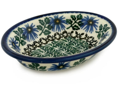 "6"" Soap Dish - Blue Daisy 