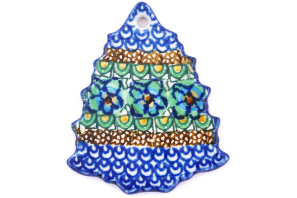 "2"" Christmas Tree Pendant - Moonlight Blossom 