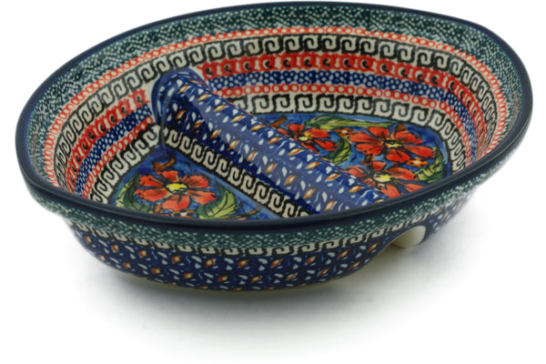 "8"" Divided Dish - Poppies 