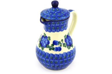 8 oz Creamer with Lid - Heritage | Polish Pottery House