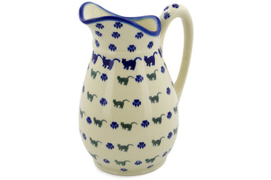 7 cup Pitcher - Cats on Parade | Polish Pottery House