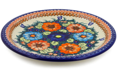 "13"" Round Platter - Blue Butterfly 