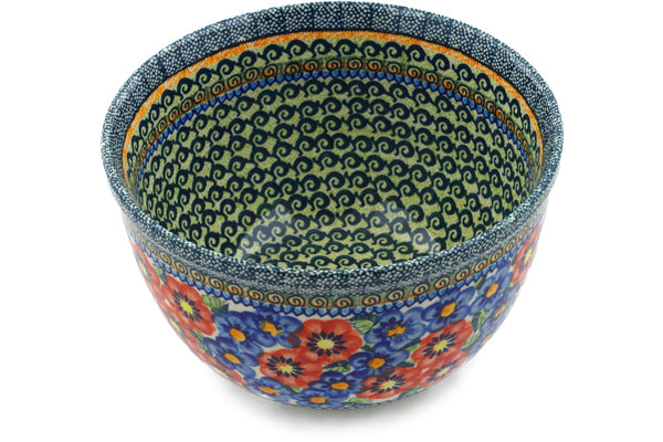 10 cup Mixing Bowl - Cottage Garden | Polish Pottery House