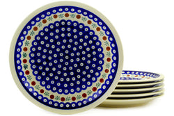 "11"" Set of 6 Dinner Plates - Old Poland 