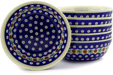 16 oz Set of 6 Bowls - Old Poland | Polish Pottery House