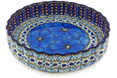 "8"" Fluted Pie Plate - Fiolek 