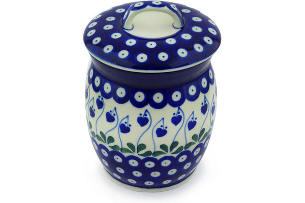 4 cup Canister - Blue Bell | Polish Pottery House