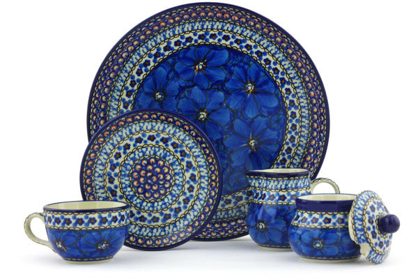 7 oz Dessert Set - Fiolek | Polish Pottery House