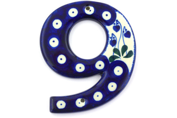 "4"" #9 Hanging Number with hole - 377O 
