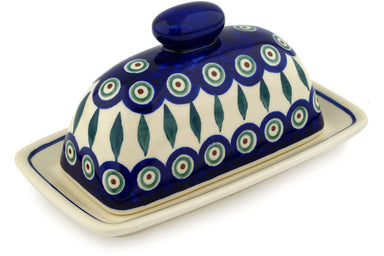 "8"" Butter Dish - Peacock 