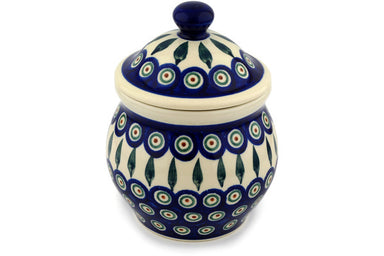 3 cup Canister - Peacock | Polish Pottery House