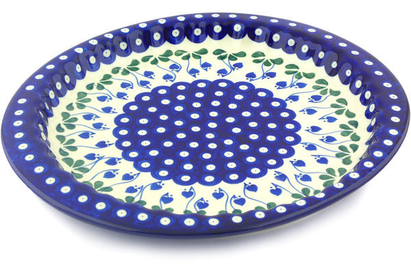 "13"" Fluted Oval Platter - Blue Bell 