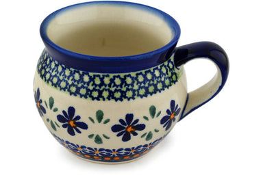 12 oz Bubble Mug - Emerald Mosaic | Polish Pottery House