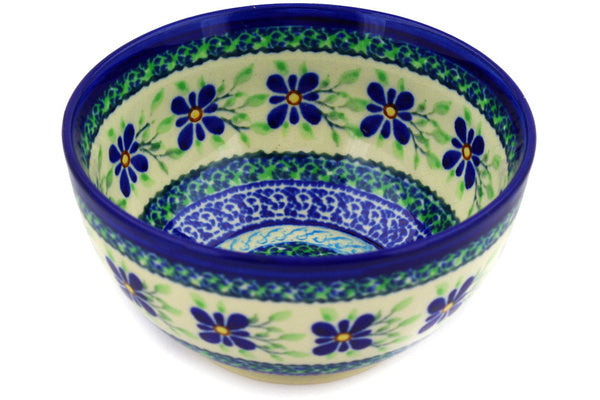 15 oz Dessert Bowl - Emerald Floral | Polish Pottery House