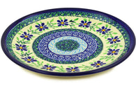 "8"" Salad Plate - Emerald Floral 