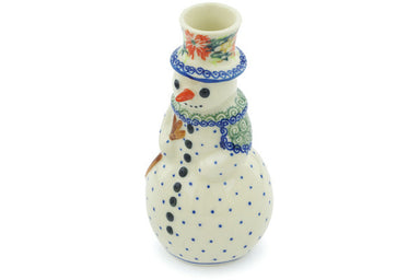 "6"" Snowman Candle Holder - D156 