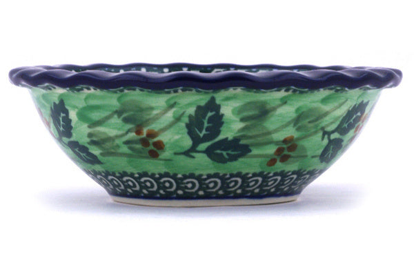 3 oz Scalloped Bowl - Spring Garden | Polish Pottery House