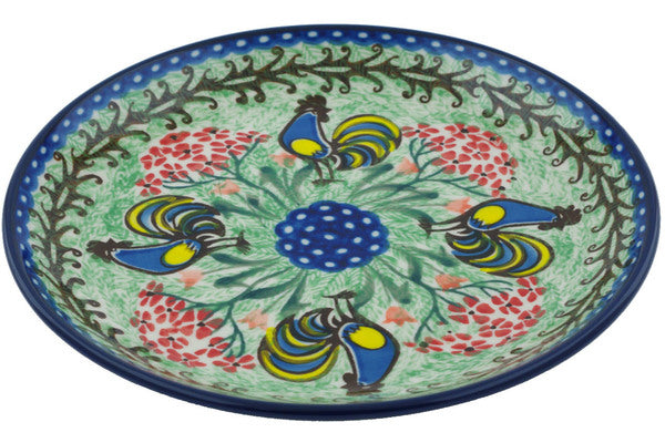 "8"" Salad Plate - Blue Rooster 