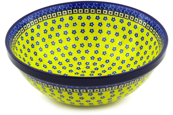 14 cup Serving Bowl - Blue Sunshine | Polish Pottery House