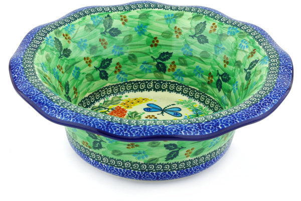 "11"" Scalloped Bowl - Whimsical 