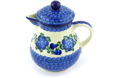 20 oz Pitcher with Lid - Heritage | Polish Pottery House