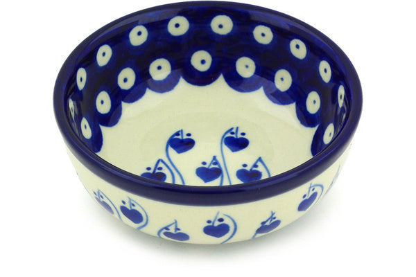 6 oz Condiment Bowl - Blue Bell | Polish Pottery House