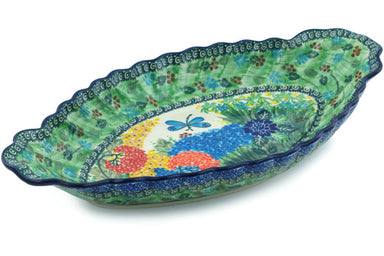 "16"" Platter with Handles - Whimsical 