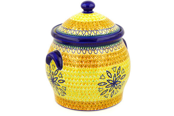 24 cup Cookie Jar - Fall Moon | Polish Pottery House