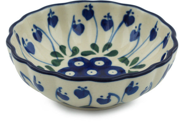 8 oz Dessert Bowl - Blue Bell | Polish Pottery House