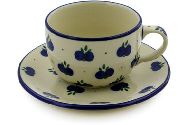 9 oz Cup with Saucer - 67AX | Polish Pottery House