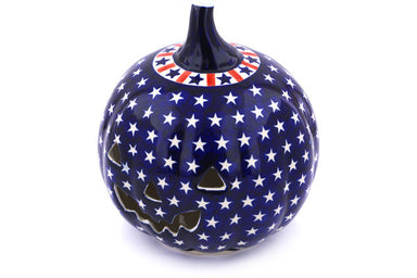 "9"" Jack O Lantern Candle Holder - Americana 