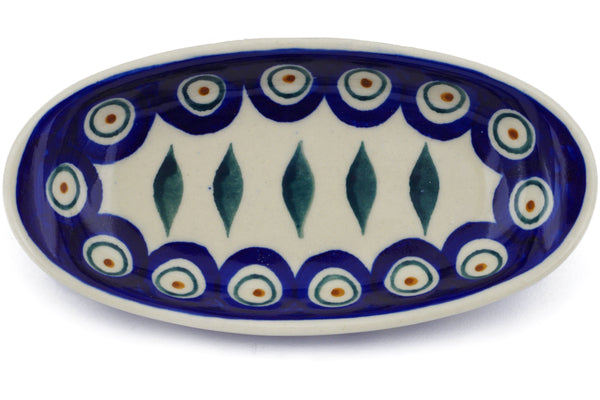3 oz Condiment Dish - Peacock | Polish Pottery House
