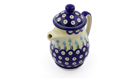 15 oz Creamer with Lid - D107 | Polish Pottery House