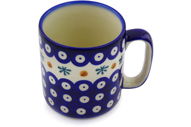 11 oz Mug - Blue Old Poland | Polish Pottery House