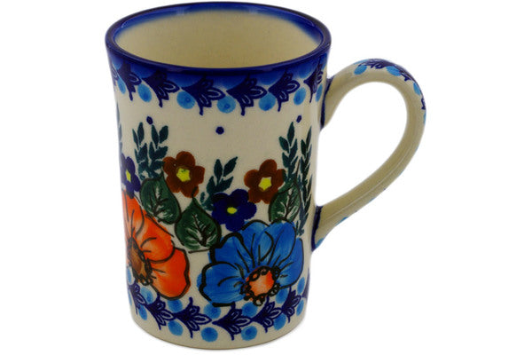 7 oz Mug - Poppy Wreath | Polish Pottery House