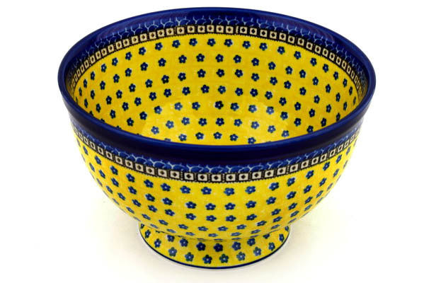 16 cup Serving Bowl - Blue Sunshine | Polish Pottery House