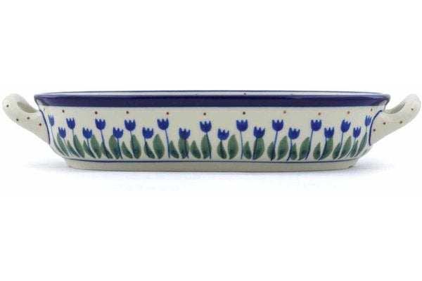 "9"" Oval Baker with Handles - 490AX 