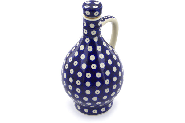 34 oz Bottle - Polka Dot | Polish Pottery House