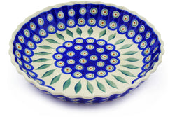 "10"" Fluted Pie Plate - Peacock 
