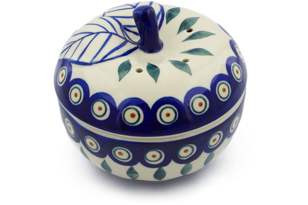 15 oz Apple Baker - Peacock | Polish Pottery House