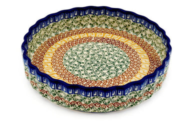 "8"" Fluted Pie Plate - Blue Autumn 