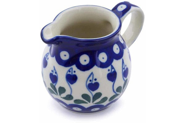 6 oz Creamer - Blue Bell | Polish Pottery House