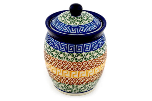 16 oz Canister - Blue Autumn | Polish Pottery House