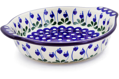 "8"" Round Baker with Handles - Blue Bell 
