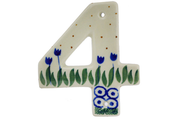"4"" #4 Hanging Number with hole - 490A 