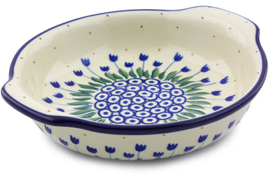 "7"" Round Baker with Handles - 490AX 