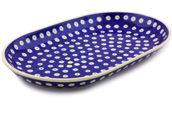 "13"" Platter - Polka Dot 